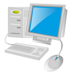Computer on white background vector