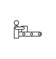 computerized production sketch icon vector image