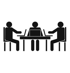 conference icon simple style vector image