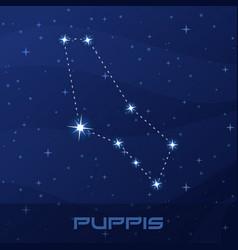 constellation puppis stern night star sky vector image