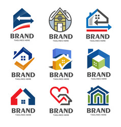 creative real estate logo vector image