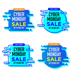 Cyber monday sale banner label poster badge vector