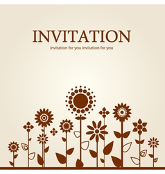 Decorative floral invitation vector image