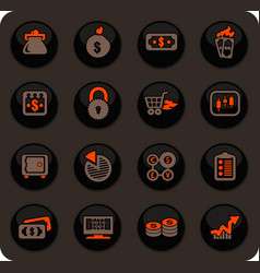 E-commers icons set vector