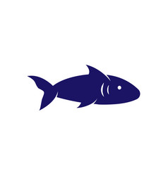 fish icon design template isolated vector image