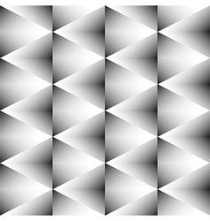 Geometric monochrome seamless pattern of rhombus vector