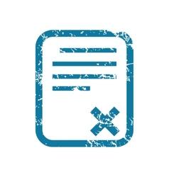Grunge decline document icon vector