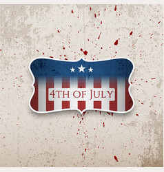 happy fourth of july patriotic banner vector image