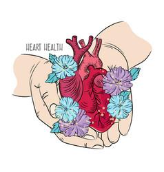 Heart care health medicine lifestyle love i vector