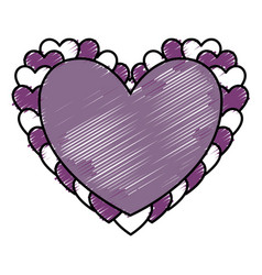 heart icon image vector image