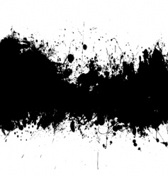 ink splat banner vector image
