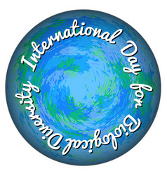 International day for biological diversity convex vector
