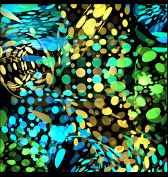 isolated abstract colorful bubbles on black vector image