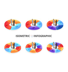 isometric infographic with businessman vector image