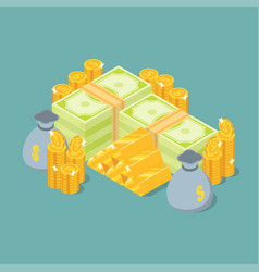 isometric money vector image