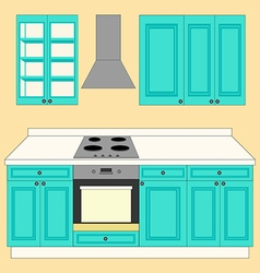 Kitchen Set icon vector image