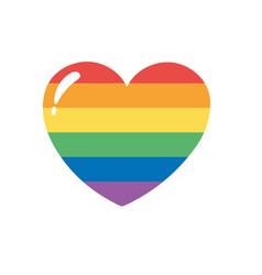 Lgbtq community pride rainbow heart love parade vector