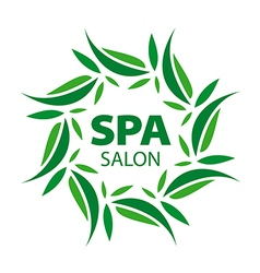 logo with floral ornaments for the spa vector image