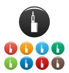 Mod box icons set color vector