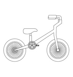mountain bicycle isolated icon vector image
