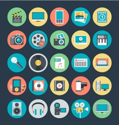 Multimedia Colored Icons 1 vector