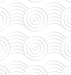 Paper white circles on bulging ribbon vector