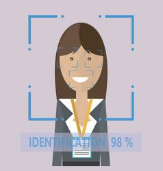 Personal identification women vector