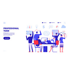 profession team employees work in office company vector image