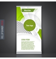 Roll up banner stand template Abstract background vector image