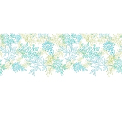 Scattered blue green branches horizontal seamless vector image