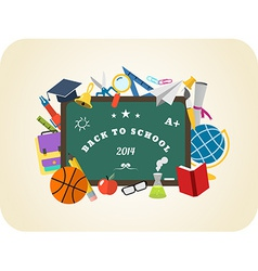 School design elements Back to school flat design vector