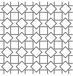 Seamless abstract black and white square pattern vector