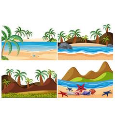 set beach landscape vector image