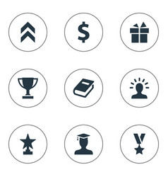 set of simple trophy icons vector image vector image