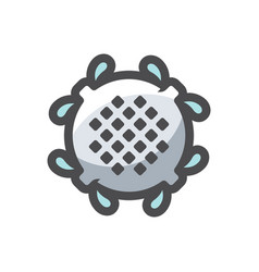 sewer cover rainfall icon cartoon vector image