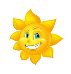 Smiling Sun Cartoon Character vector image