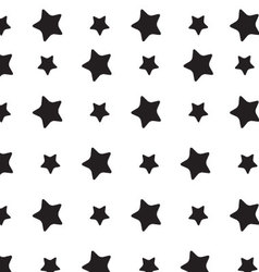 Stars sky black white pattern vector