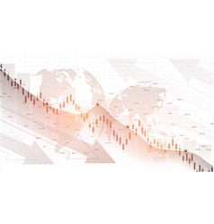 stock market graph or forex trading chart vector image