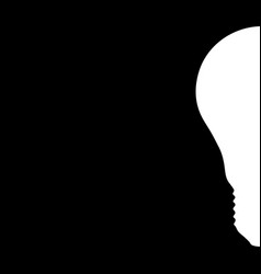 the silhouette of the light bulb vector image