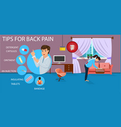 Tips for back pain for pregnant vector