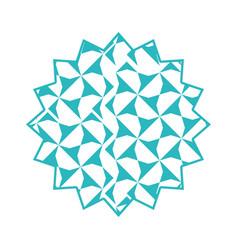 triangles frame emblem vector image