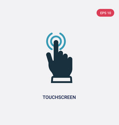 Two color touchscreen icon from technology vector