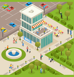 Urban architecture isometric composition vector