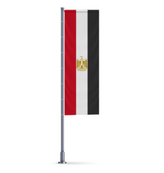 Vertical hanging flag vector