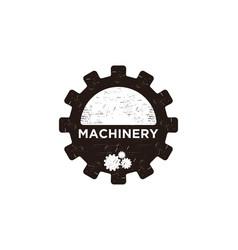 vintage gear machinery logo label designs vector image