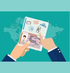 visa of woman vector image