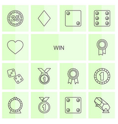 Win icons vector