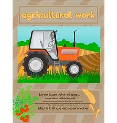 agriculture work vector image