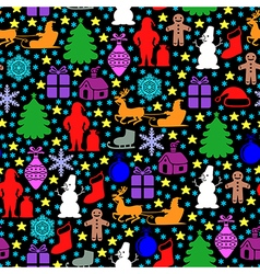 color black pattern vector image