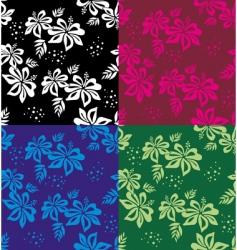floral background wallpaper vector image vector image